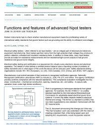 Hipot Article Test & Measurement June 2018