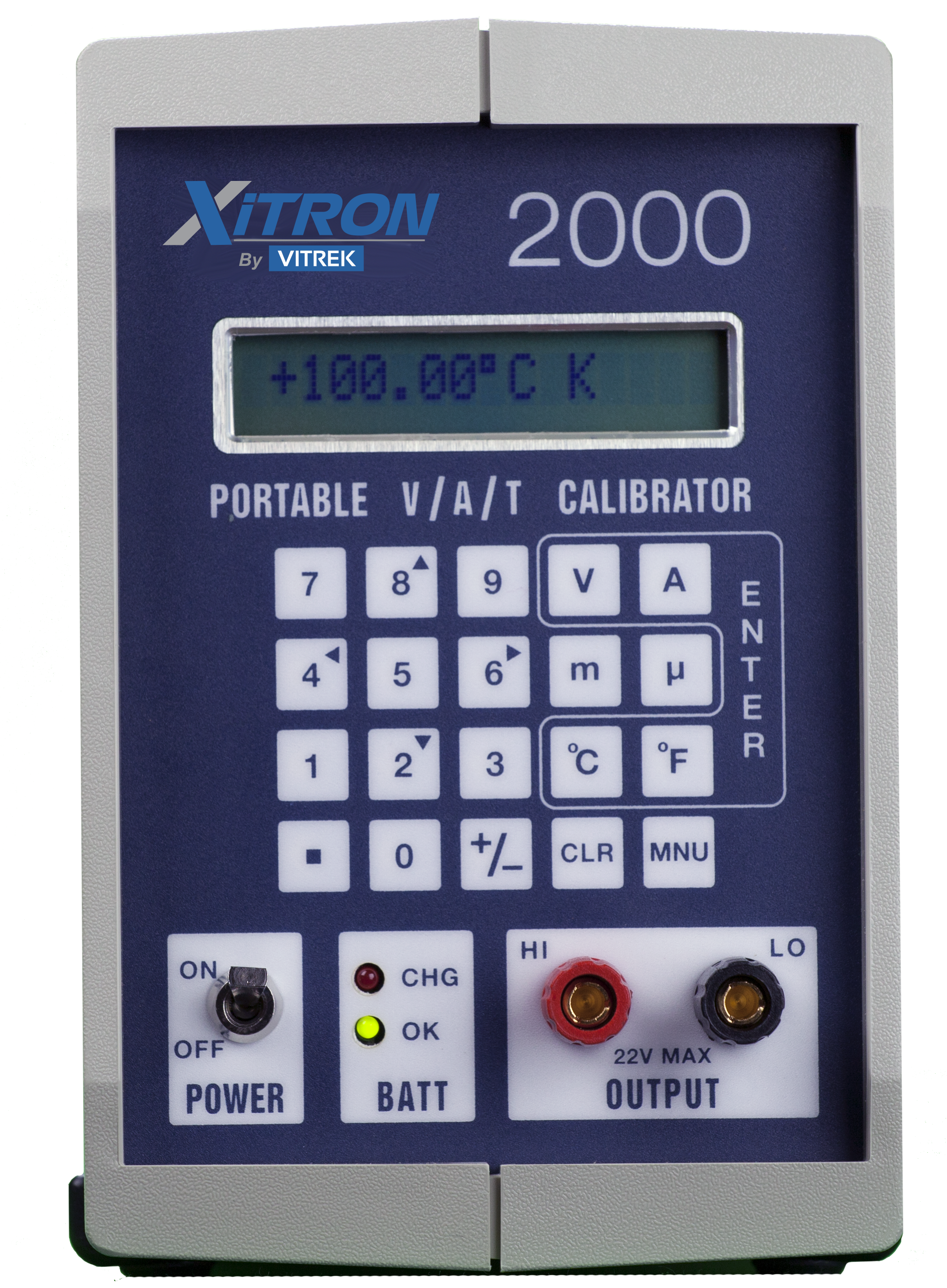 vitrek xitron 2000 portable calibration instrument front
