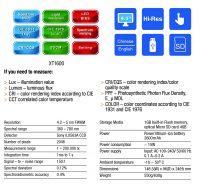 vitrek xitron XT1600 portable micro-spectrometer screens 2