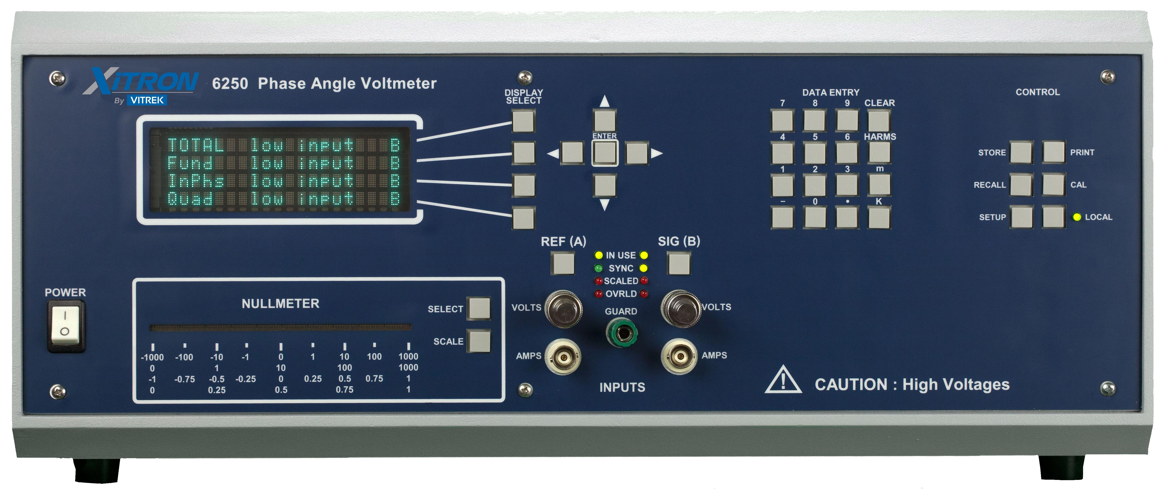 Xitron 6250 phase angle voltmeter