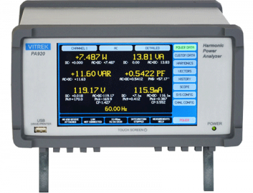 Press Release: Vitrek Releases Ultra-High Accuracy (0.024%) PA920 Series Power Analyzer