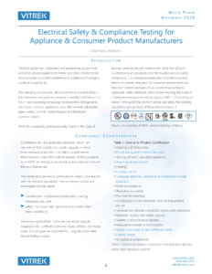 Appliance & Consumer Product Compliance Whitepaper