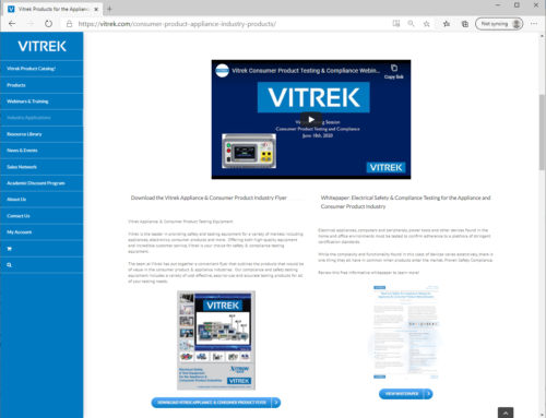 Press Release: Vitrek Highlights Updated & Expanded Sections of their Website